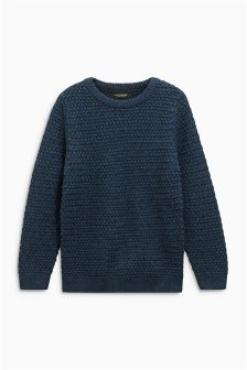 Fisherman Crew Neck Jumper (3-16yrs)