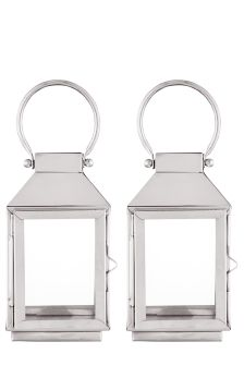 Set Of 2 Mini Stainless Steel Lanterns