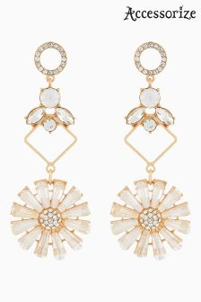 Accessorize Clear Luna Statement Earrings