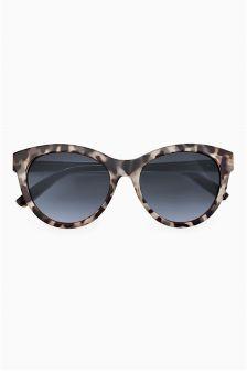 Metal Inlay Cat Eye Sunglasses