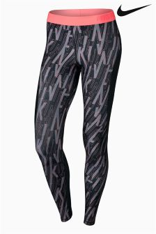Nike Black Printed Tight