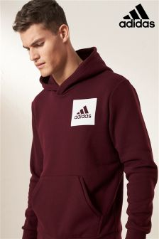 adidas essentials box logo hoody