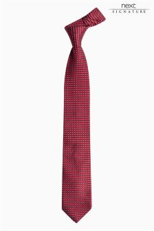 Signature Italian Silk Patterned Tie