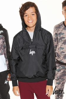 Hype Black Overhead Waterproof Jacket