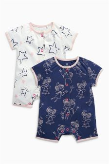 Fairy Short Leg Rompers Two Pack (0mths-2yrs)