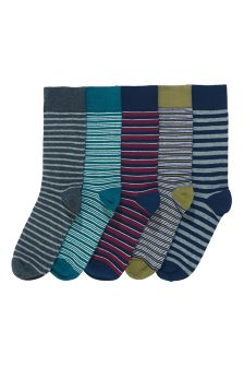 Marl Stripe Socks Five Pack