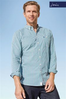 Joules Green Hewney Gingham Shirt