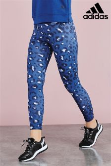 adidas Blue Essential All Over Print Tight