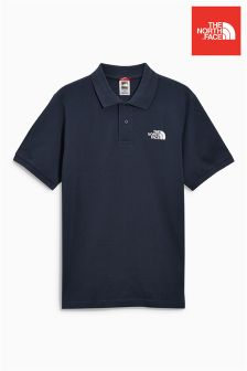 The North Face® Navy Pique Polo