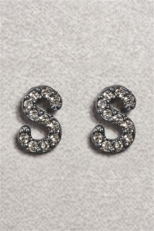 Sparkle Initial Earrings