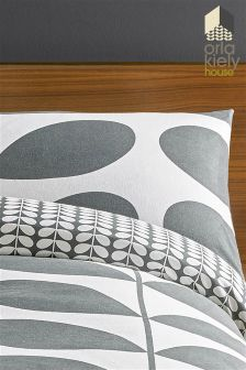 Set Of 2 Orla Kiely Flannel Giant Stem Brushed Pillowcases