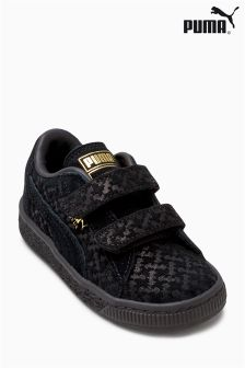 Puma® Black Batman® Velcro Suede Trainer