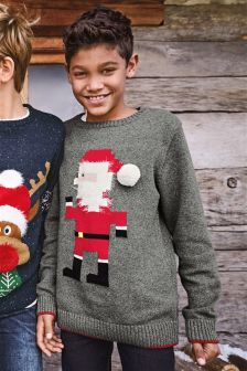 Christmas Geo Santa Jumper (3-16yrs)
