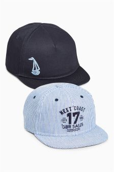 Stripe Boat Caps Two Pack (Younger Boys)