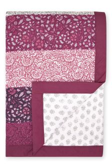 Paisley Woodblock Reversible Throw
