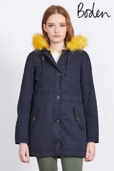 Boden Navy Polly Parka
