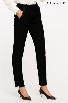 Jigsaw Black Tuxedo Trouser