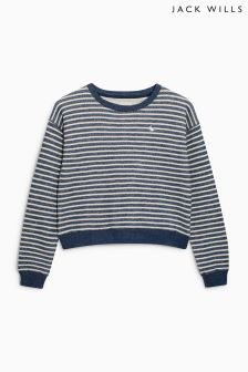 Jack Wills Navy Striped Crew