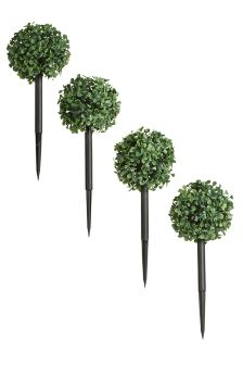 Set Of 4 Solar Topiary Stakes