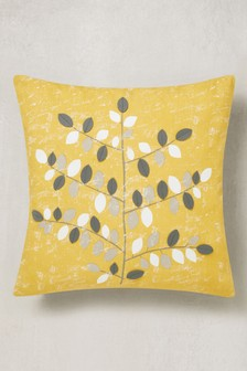 Graphic Leaf Cushion