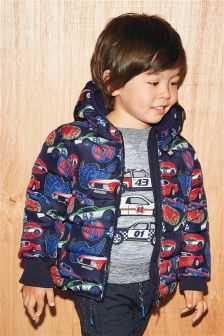 Padded Car Print Jacket (3mths-6yrs)