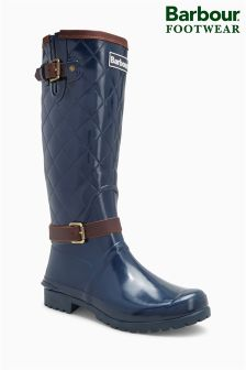 Barbour® Navy Lindisfarne Quilted Tall Welly