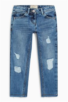 Distressed Relaxed Fit Jeans (3-16yrs)