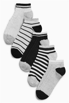Trainer Socks Five Pack (Older Girls)