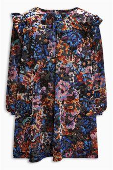 Velvet Burnout Dress (3-16yrs)