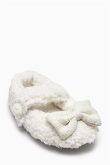 Bow Slippers (Younger Girls)
