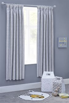 Little One Blackout Pencil Pleat Curtains