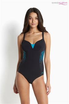 Speedo® Blue/Aqua Sculpture Shinedream Swimsuit
