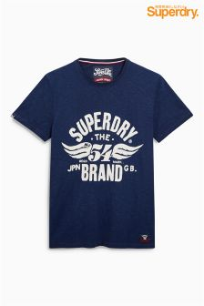 Superdry Navy Wings Logo  T-Shirt
