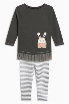 Bunny Tunic And Leggings Set (3mths-6yrs)