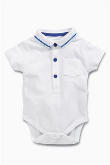 White Polo Bodysuit (0mths-2yrs)