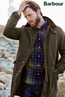 Barbour® Olive Nairn Waxed Mac