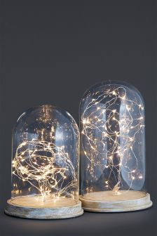 Set Of 2 Cloche LED Feature Lights