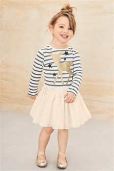 Stripe Deer Dress (3mths-6yrs)