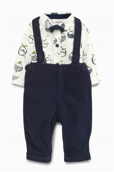 Cord Dungarees Set (0mths-2yrs)