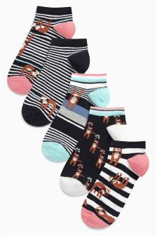 Sloth Trainer Socks Five Pack