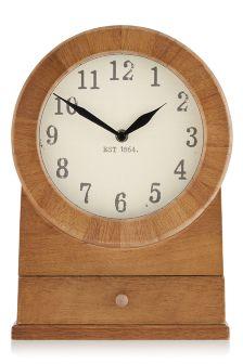 Rustic Wooden Mantle Clock