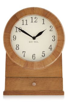 Rustic Wooden Mantel Clock