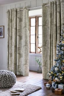 Tree Print Eyelet Curtains