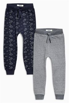 Printed Car Joggers Two Pack (3mths-6yrs)