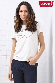 Levi's® White Love Heart T-Shirt