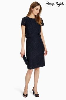 Phase Eight Navy Ira Lace Dress