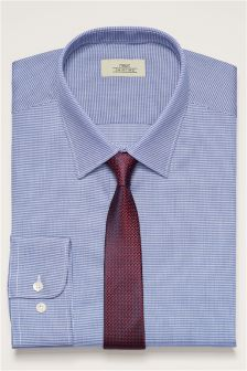 Textured Shirt And Tie Set