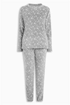 Cosy Fleece Star Pyjamas