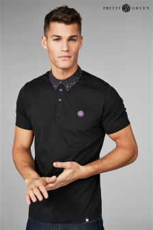 Pretty Green Black Owsley Short Sleeve Polo