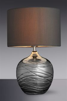 Smoke Drizzle Glass Table Lamp